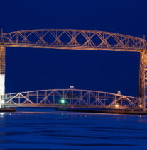 Duluth Lift Bridge Scaffolding